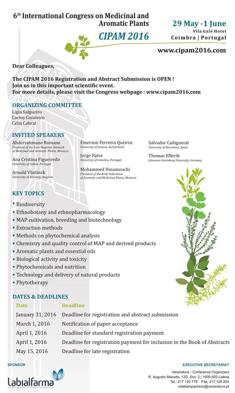 6th International Congress on Medicinal and Aromatic