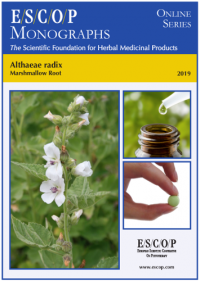 ESCOP monographs The Scientific Foundation for Herbal Medicinal Products. Online series. Althaeae radix (Marshmallow root). Exeter: ESCOP; 2019.