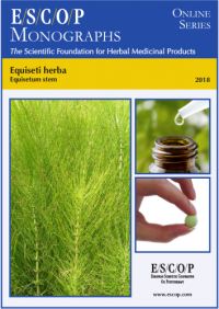 ESCOP monographs The Scientific Foundation for Herbal Medicinal Products. Online series. Equiseti herba (Equisetum Stem). Exeter: ESCOP; 2018.