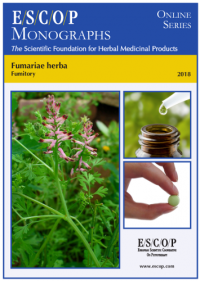 ESCOP monographs The Scientific Foundation for Herbal Medicinal Products. Online series. Fumariae herba (Fumitory). Exeter: ESCOP; 2018.