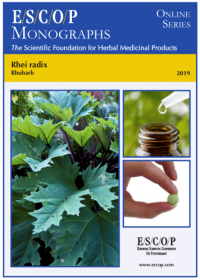 ESCOP monographs The Scientific Foundation for Herbal Medicinal Products. Online series. Rhei radix (Rhubarb). Exeter: ESCOP; 2019.