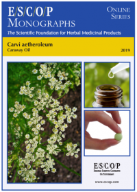ESCOP monographs. The Scientific Foundation for Herbal Medicinal Products. Online series. Carvi aetheroleum (Caraway oil). Exeter: ESCOP; 2019.