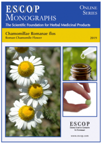 ESCOP monographs The Scientific Foundation for Herbal Medicinal Products. Online series. Chamomillae romanae flos (Roman chamomile flower). Exeter: ESCOP; 2019.