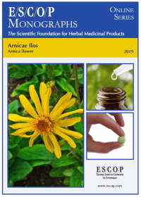 ESCOP monographs, The Scientific Foundation for Herbal Medicinal Products. Online series. Arnicae flos (Arnica flower). Exeter: ESCOP; 2019.