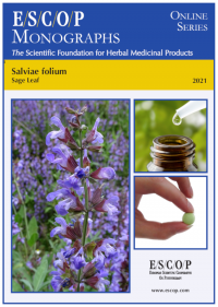 ESCOP monographs The Scientific Foundation for Herbal Medicinal Products. Online series. Salviae folium (Sage Leaf). Exeter: ESCOP; 2021